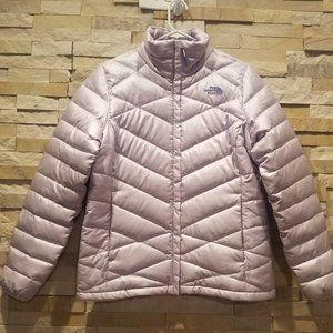North Face Purple Womens Medium Quilted Winter Puffer 550 Down Jacket Puff Coat